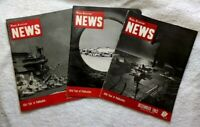 1962 NAVAL AVIATION NEWS Magazines • Lot of 3 • Aircraft CARRIERS • MIDWAY
