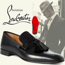 Christian Louboutin Black Men's Doc Sofa Tassel Loafers Shoes 45