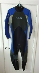 Tiki Mens Wetsuit Black Blue 3:2 XXL Surf Dive Neoprene Full Length