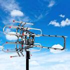 HDTV Outdoor Amplified Antenna Digital HD TV 150 Mile 22-38dB UHF/VHF/FM