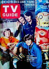 TV Guide 1967 The Monkees Davy Jones Micky Dolenze Mike Nesmith Gene Trind COA