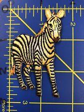 Zebra Embroidered Patch Applique Savannah Jungle African Safari Zoo Wild Animal