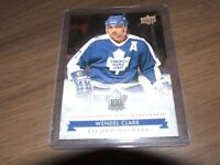 17/18 UD TORONTO MAPLE LEAFS CENTENNIAL RECORD HOLDERS WENDEL CLARK #145