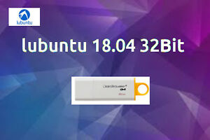 Lubuntu Linux 18.04 Complete Operating System/Software on 8gb Branded USB 32bit