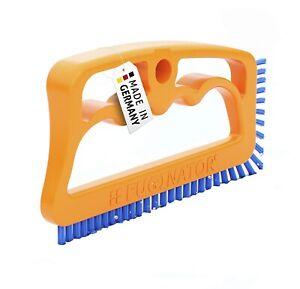 Fuginator® Fugenbürste orange/blau – Bürste zur Fugenreinigung in Bad, Küche und
