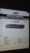 jvc jx-w9 service manual original repair schematic special effects generator