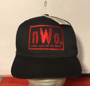 NWT Vintage 1998 WCW NWO Black Red SnapBack Hat Cap Wrestling