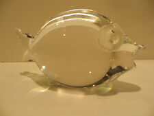 Vint STEUBEN Crystal Glass FISH Frosted Eyes Mid Century Modern George Thompson