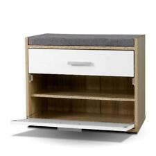 Artiss LC-FURNI-BEN01-WDWH Shoe Cabinet Bench - White
