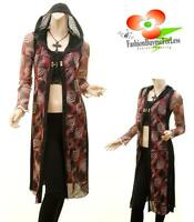 Medieval Goth Pagan Robes Pirate Hooded Knit Long Cardigan Sweater Top S M L XL