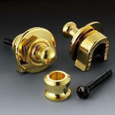 NEW Genuine Schaller GOLD Strap Lock System for Guitar & Bass - Made in GERMANY