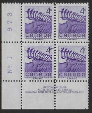 Scott 360: 4c Caribou LL Plate #1 unlisted Hairlines in margin and stamps VF-NH