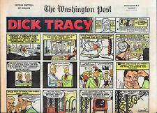 6 COMPLETE 1968 WASHINGTON POST DICK TRACY, FEARLESS FOSDICK, THE PHANTOM, ETC