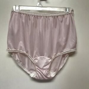 Vintage Carole Pink Granny/Sissy Panties Nylon Panty Briefs 7 Vanity Fair