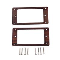 2PCS Electric Guitar Humbucker Pickup Frame Mounting Ring w/ Screws Rosewood