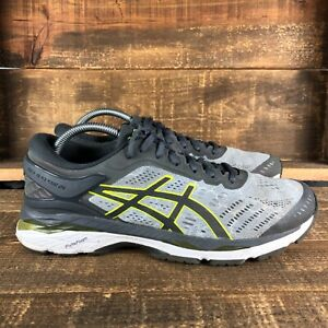Asics Mens Gel Kayano 24 T749N Lace Up Low Top Gray Running Shoes Size 9