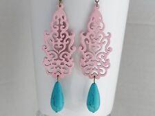 Pink Earrings Turquoise Earrings Bridesmaid Earrings Pink Jewelry Women Gift