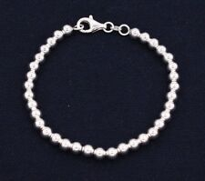 5mm Bead Ball Toilet Chain Bracelet Real Solid Sterling Silver 925 Great Gift!!