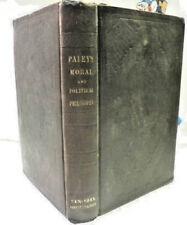Antique 1849 Paley Moral Political Philosophy Harper