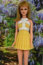 HM OOAK Yellow For Vntg No Bangs Francie Barbie Dress Momoko & Takara size