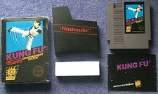Nintendo NES - Kung Fu (5 Screw) - Complete in Black Box w/ clear collector case