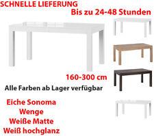 Tisch Küchentisch Esszimmertisch Esstisch WENUS ausziehbar 300cm Weiß hochglanz