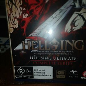 Hellsing Ultimate Complete Series Blu-Ray Box Set **Region B**openeď not watched