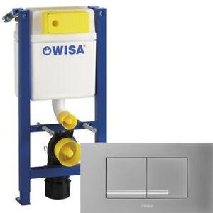 WISA WC SET Vorwandelement XT 83cm geringe Bauhöhe 38cm breit + KANTOS mattchrom