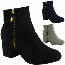 Faux Suede Cuban Ankle Boots for Women
