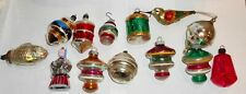 Assorted Antique / Vintage Lantern & Other Shaped Glass Christmas Ornaments !