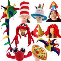 Adults Kids Novelty Sea Animal Pizza Jester Plush Fancy Dress Costume Party Hat