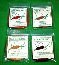 Fly Rite Dubbing Tying Dry Flies Lot 4 Packs Colors Super Fine Poly Fly Rod Fish