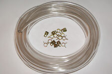 califfo rizzato moped CARBURETOR GAS 3/16 FUEL LINE CLEAR  5FT AND 15 CLAMPS