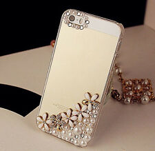 New Flowers Pearl Crystal Handmade Finished Case cover skin for Iphone 6 6S plus