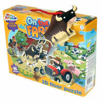 Children's Farm Puzzle - 55 Pieces 3D Animal Floor Jigsaw Kids Fun Activity 3+