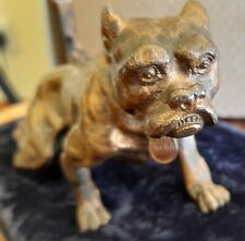 More details for antique solid bronze cold painted bulldog viennese manner of bergman