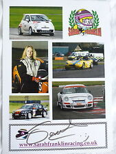 Sarah Franklin Racing Firmato UFFICIALE PHOTOCARD
