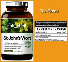 St John's Wort Capsules 1500mg Natural Ingredients Non GMOs 240CT NatureBell