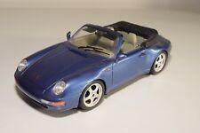 X 1:18 BBURAGO BURAGO PORSCHE 911 CARRERA METALLIC PURPLE EXCELLENT CONDITION