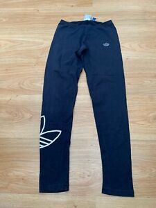 Women's Adidas Originals Casual Leggings Pants Tights in Navy Blue Size UK 6