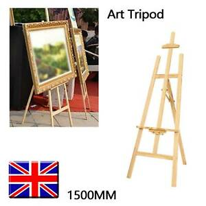 5ft 1500mm Wooden Pine Tripod Studio Canvas Easel Portables Art Stand