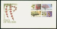 MayfairStamps Pitcairn Islands 1987 Block of Trees Flora First Day Cover WWG6911