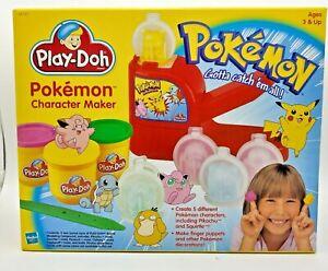 Pokemon Play-Doh Character Maker 1999 Hasbro Sealed New in Box RARE Pikachu