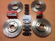 HONDA S2000 2.0 05 / 99- Delantero Trasero Discos De Freno Ranurados Perforados