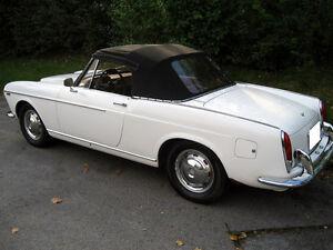 Fiat 1100 1200 1500 1964-1966 Convertible Soft Top & Plastic Window Black Cloth