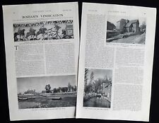 BOSHAM VILLAGE SUSSEX / MIDGLEY PACE EGG PLAY MUMMERS 2pp PHOTO ARTICLE 1938