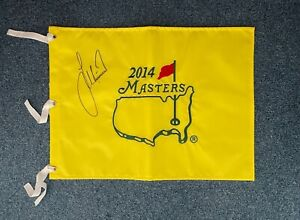2014 Masters Flag Signed Autographed By Lee Westwood - Genuine