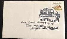 Australia fdc 1981 Henry Field Days