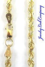 "14K Yellow Gold 4mm Diamond Cut Rope Chain 26"" 33.8grams"