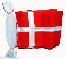 DENMARK FLAG BUNTING 9M 30 FEET flags Copenhagen Odense buntings